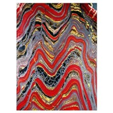 Banded iron formation Canvas Art